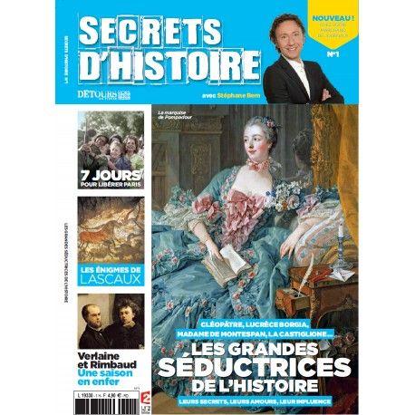magazine secrets d 39 histoire n 1 les grandes s ductrices cl op tre lucr ce borgia madame de. Black Bedroom Furniture Sets. Home Design Ideas