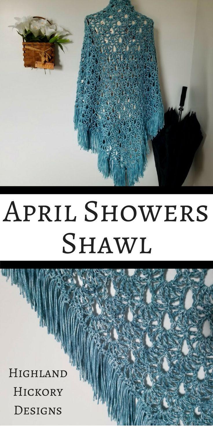 April Showers Shawl - Free Crochet Pattern - Highland Hickory Designs