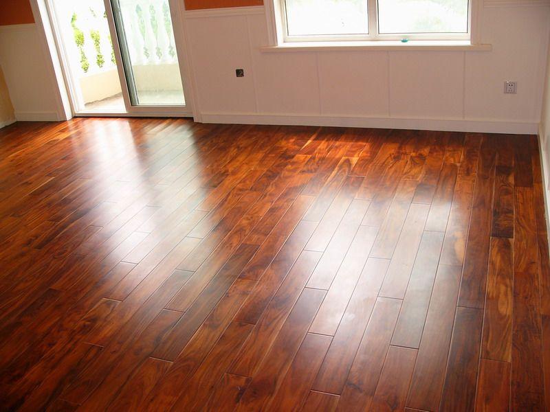 Exotic Golden Teak Acacia Flooring With Piano Finish Household