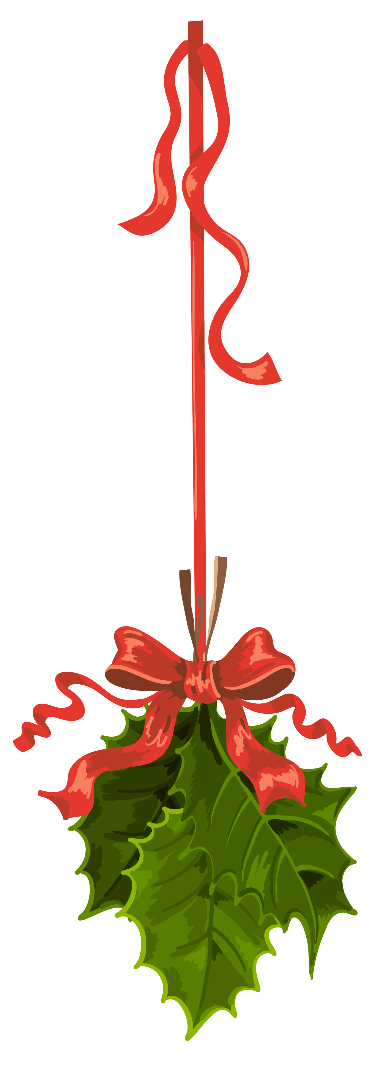 Transparent Christmas Hanging Mistletoe Png Clipart Gallery Yopriceville High Quality Images An Christmas Scrapbook Christmas Cutouts Flower Prints Framed