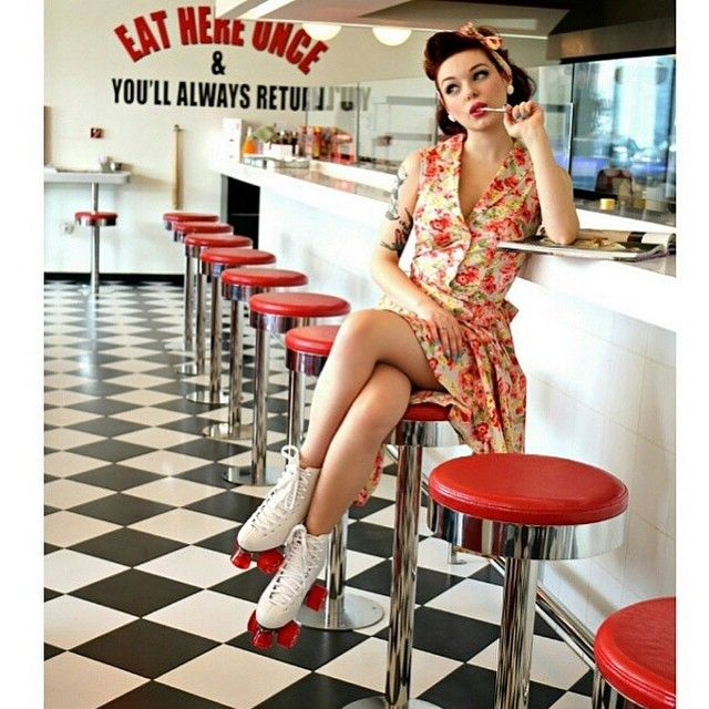 Awesome 50's diner Pinup from Miss Psycho Cat ...