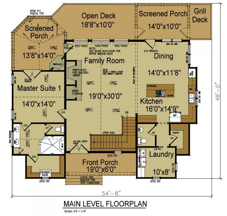 Rustic House Plans – Rustic Home Designs With Open Floor Plan