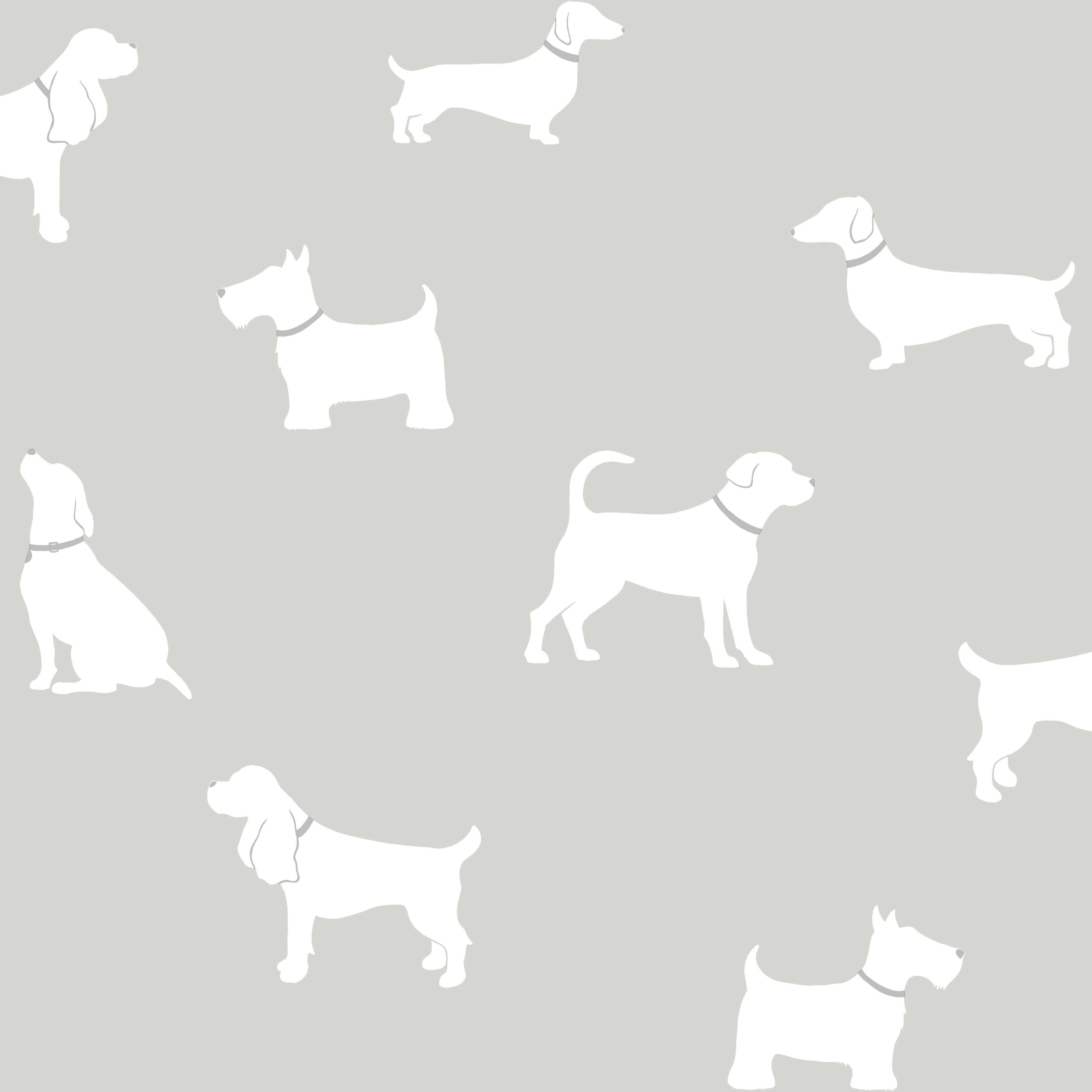 Colours Pooch Grey Dogs Mica Effect Wallpaper B Q For All Your Home And Garden Supplies And Advice On All The Latest Di Dog Wallpaper Wallpaper Diy Wallpaper