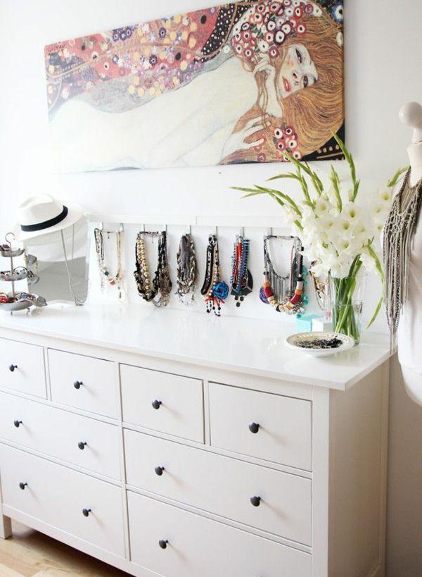 Schmuckständer selber machen - DIY-Ideen für Schmuckaufbewahrung - dekoration schlafzimmer selber machen