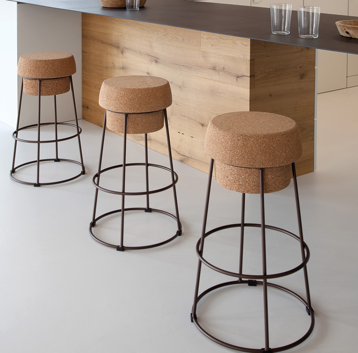 Bouchon Stool 212 Concept Modern Living Cork Stool Diy Deck Furniture Metal Stool