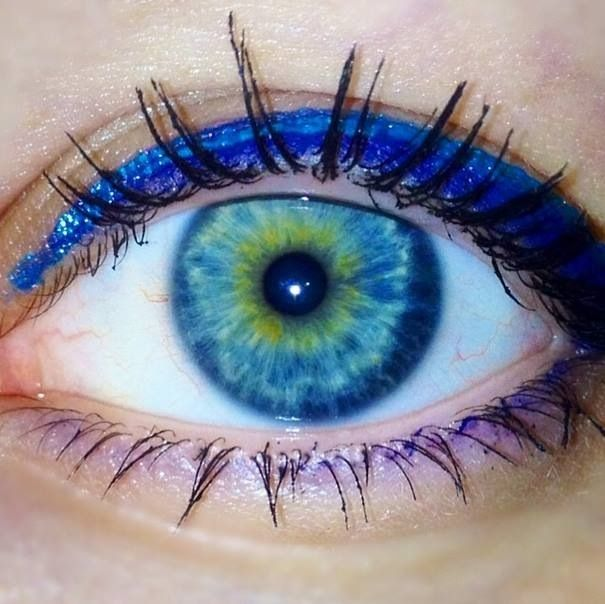 Central heterochromia and a daqrk blue limbal ring! blue ...