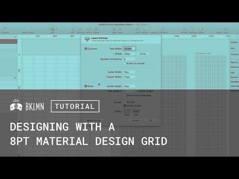 Tutorial 8pt Grids Layout Amp Material Design Gui Templates Youtube Material Design Tutorial Design System
