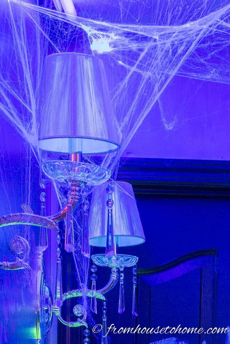 10 Awesome Glow In The Dark Decor Ideas For Halloween Entertaining Diva From House To Home Halloween Decorations Indoor Blacklight Halloween Halloween Outdoor Decorations