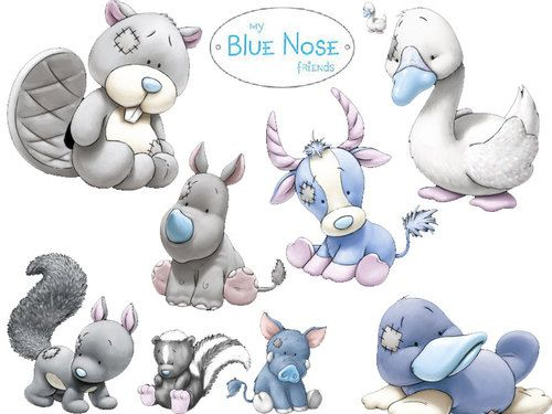 Me To You Bear My Blue Nose Friends Plush Duck Antelope Swan Squirrel Beaver Ebay Blue Nose Friends Tatty Teddy Easy Drawings