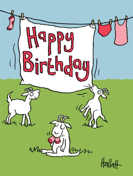 Happy Birthday Goats Happy Birthday Goat Happy Birthday Illustration Birthday Illustration