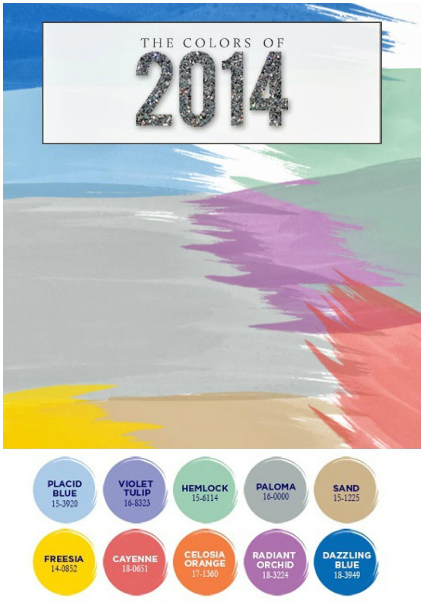 Pantone Colors Trends 2014 Colorful Pinterest