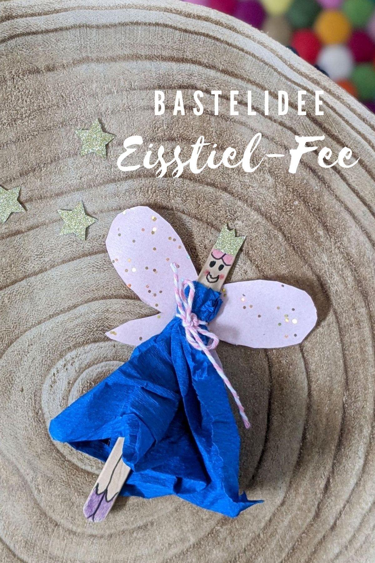 Diy Eisstiel Fee Basteln Lavendelblog In 2020 Basteln Feengeburtstag Selbstgemachte Einladungen