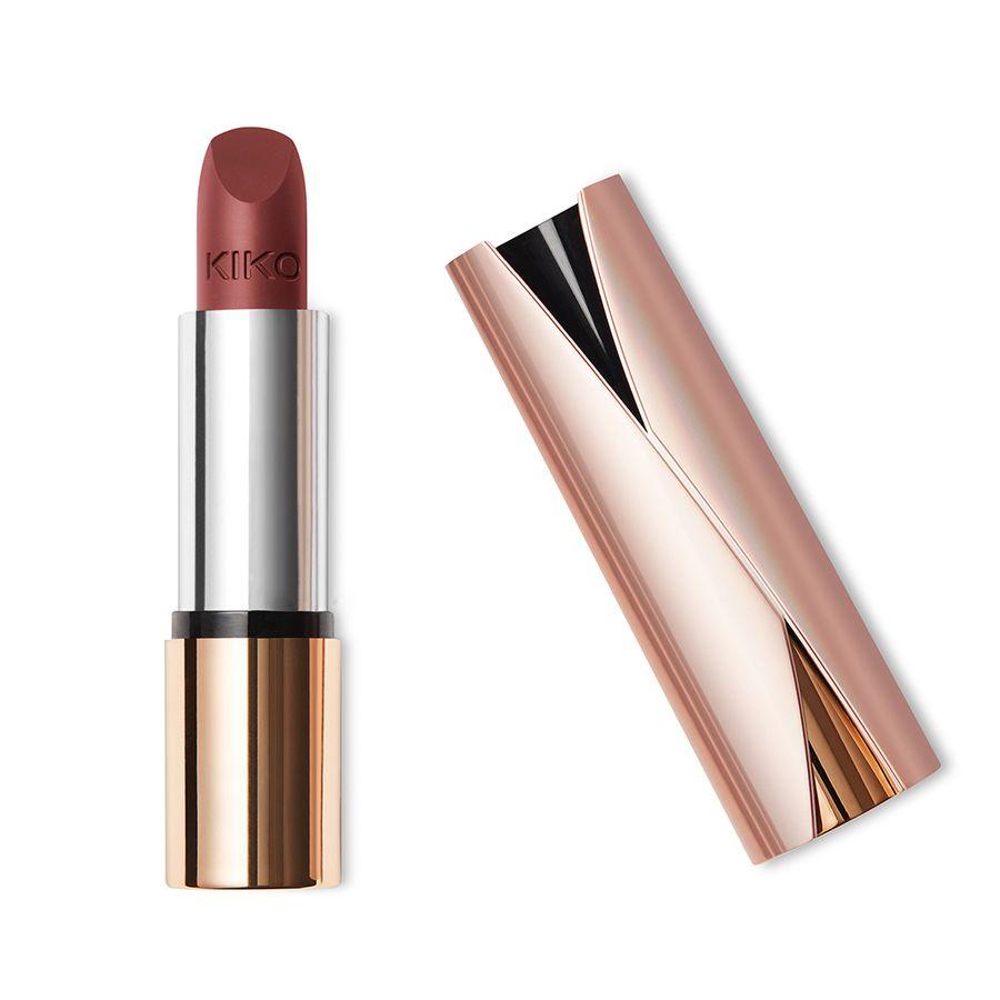 kiko make up milano velvet mat satin lipstick autumn pink rouge l vres la finition. Black Bedroom Furniture Sets. Home Design Ideas