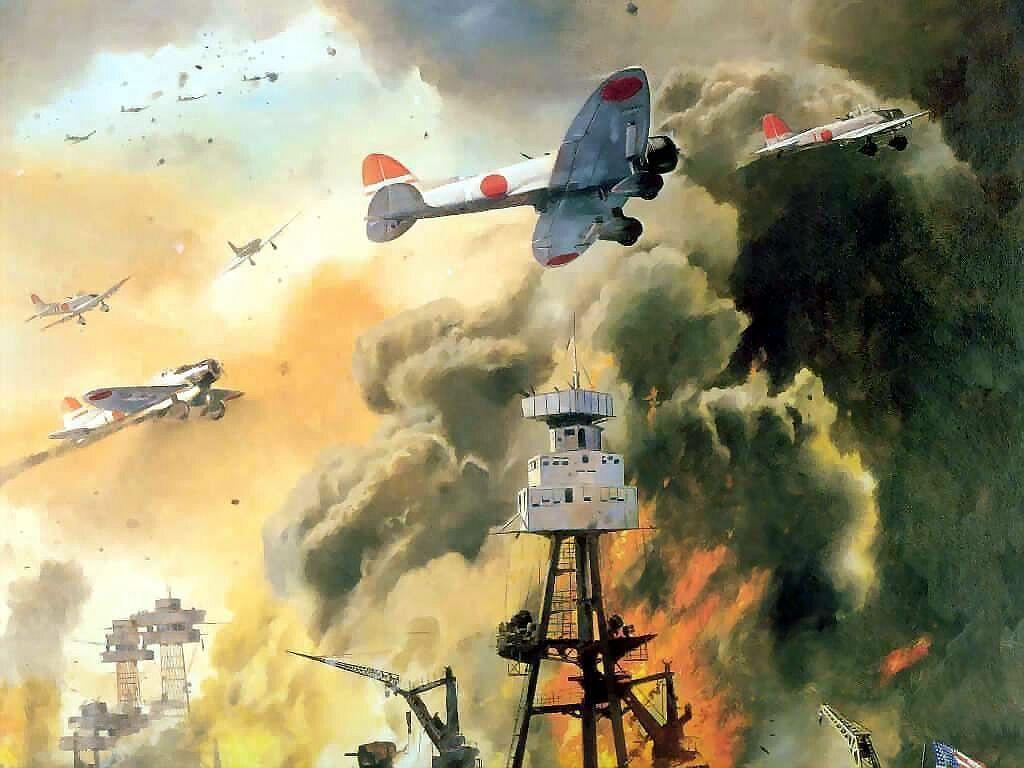 Druki artystyczne Attack on Pearl Harbor Print Dave Seeley