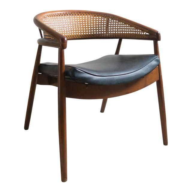 Vintage Mid-Century Curved Cane Back Chair | Chairs ...