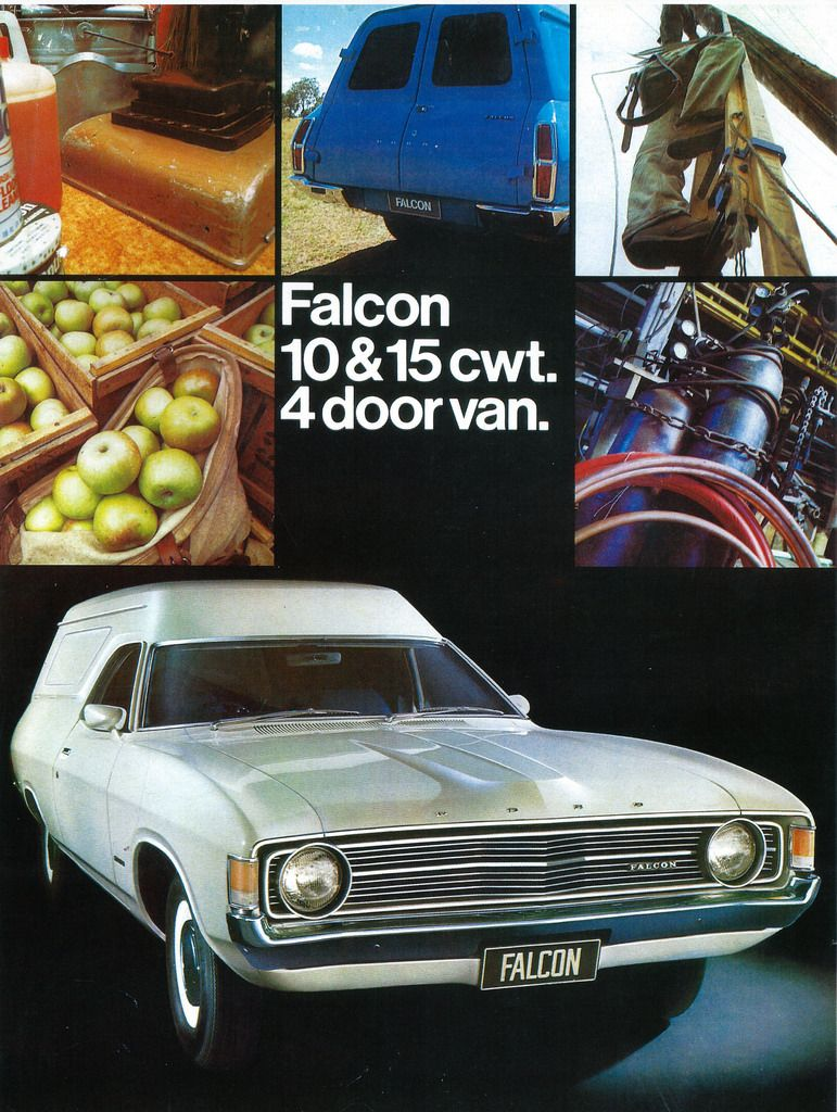 1972 Ford Falcon Van Aus Ford Falcon Automobile Advertising Australian Muscle Cars