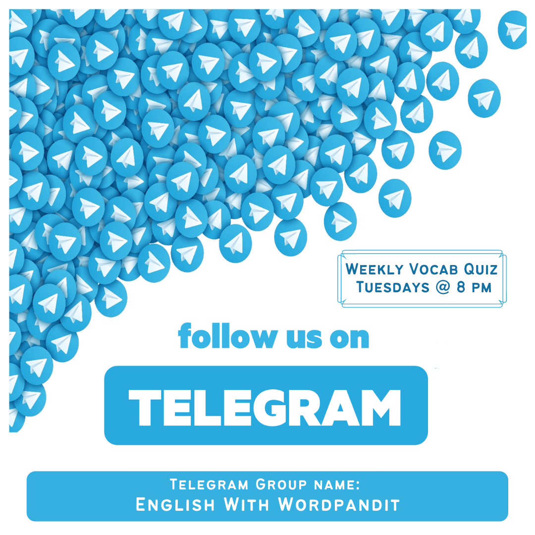 On 2 Feb 2021 We Are Coming Back With Our Highly Interactive Telegram Quizzes Twice A Week At 8 Pm Join Our Telegram Group In 2021 Confusing Words Vocab Vocabulary