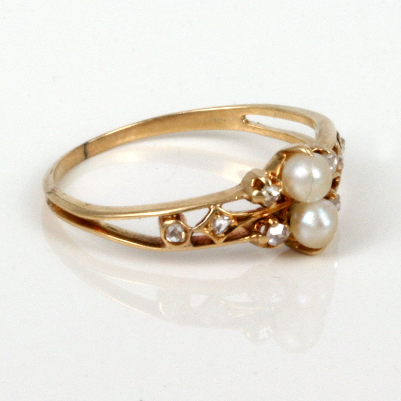 pearl engagement rings for women