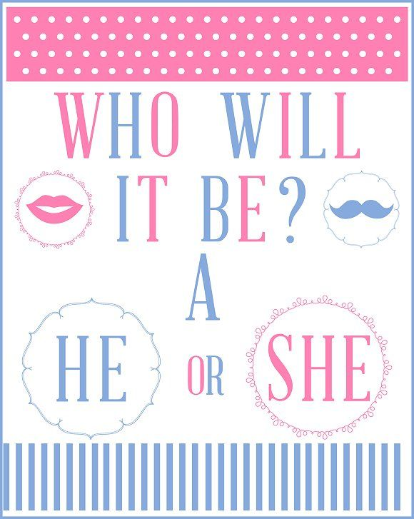 image regarding Gender Reveal Printable named Pin by means of STEFANI THOMAS upon For my youngster ♡ Boy or girl shower gender