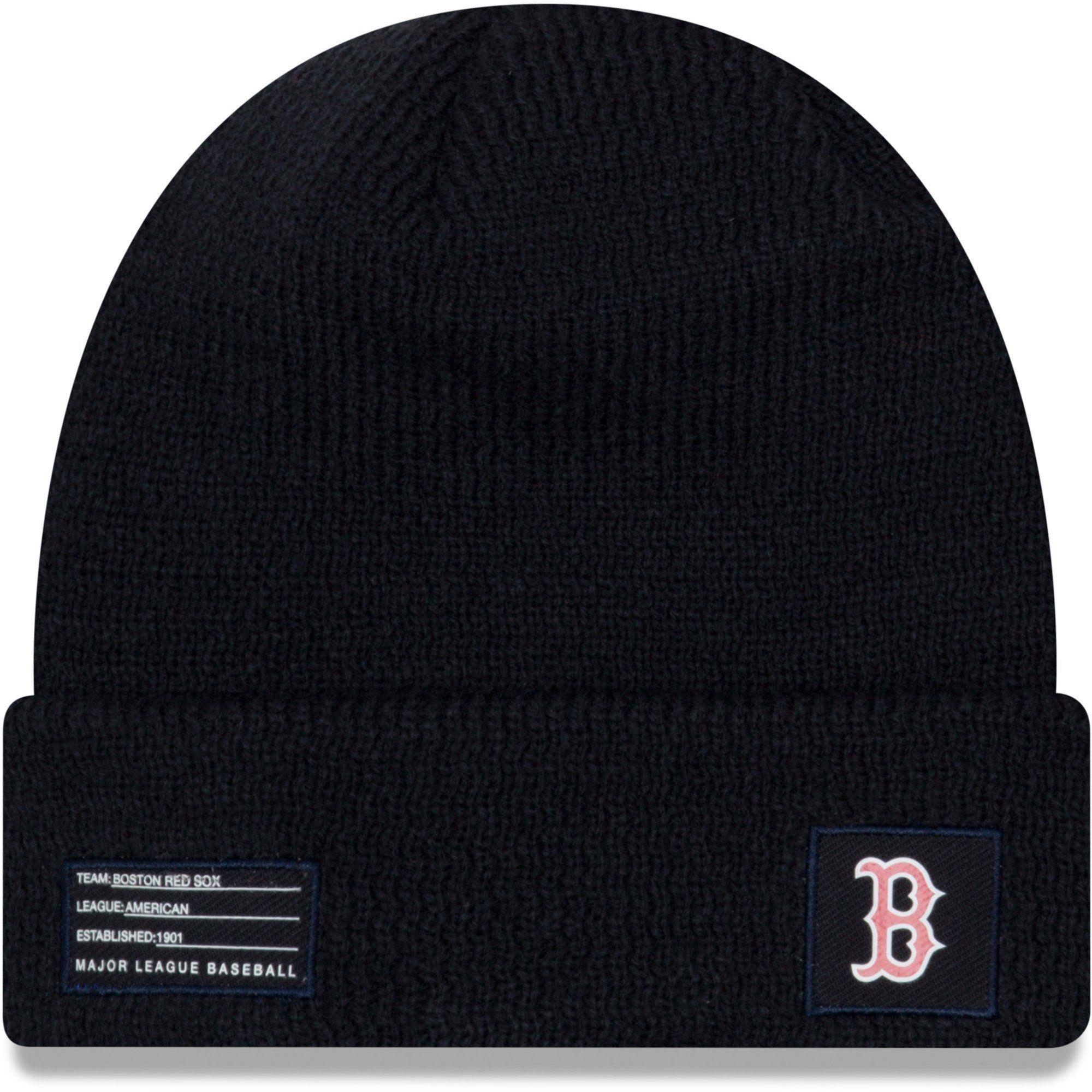 995bd58c8 Men's Boston Red Sox New Era Navy On-Field Sport Cuffed Knit Hat in ...