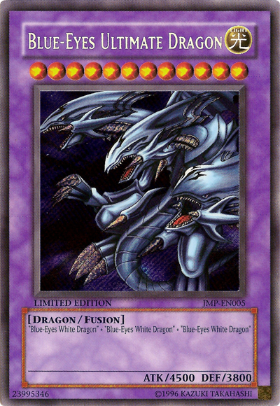The Ultimate Blue Eyes Dragon If You Have 3 Blue Eyes Dragon And 1 Polymerization You Can Summon This Powerfull Monster With 4500 Sammelkarten Yugioh Karten