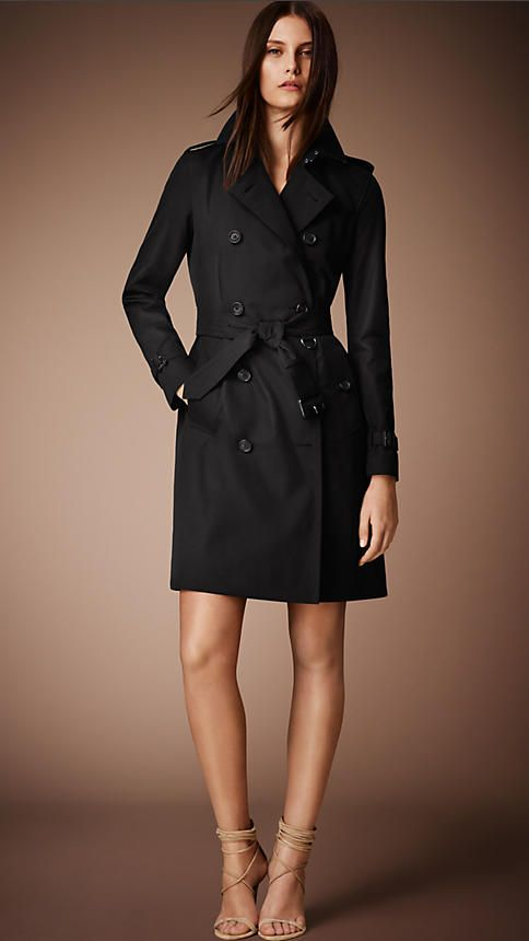 16090a425 The Kensington - Trench coat longo (Mel) - Mulheres | Burberry in ...