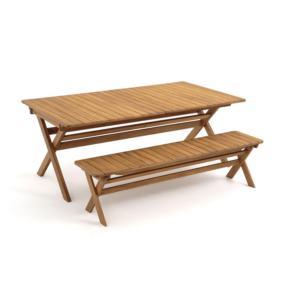 Table De Jardin Pliante Réalto, Acacia, 2 Allonges - Taille ...