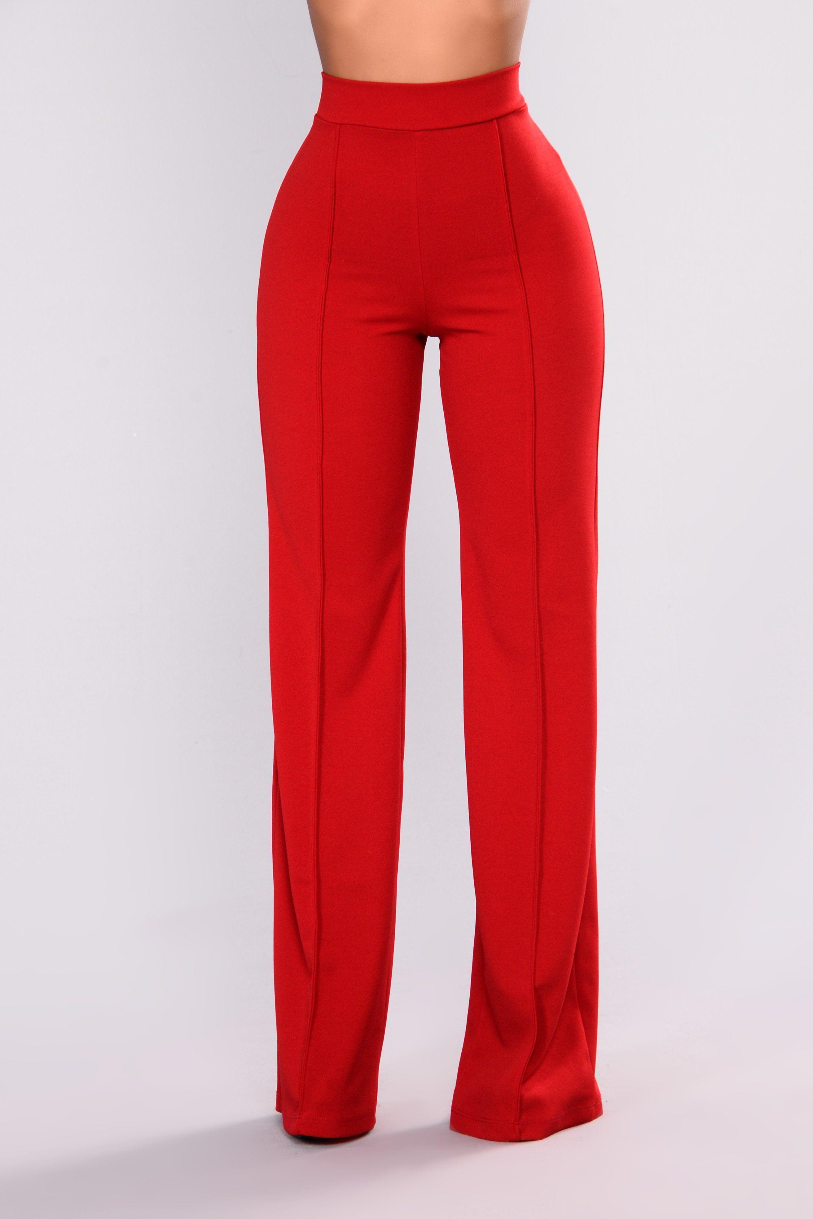 13bdf1c6739 Victoria High Waisted Dress Pants - Ruby