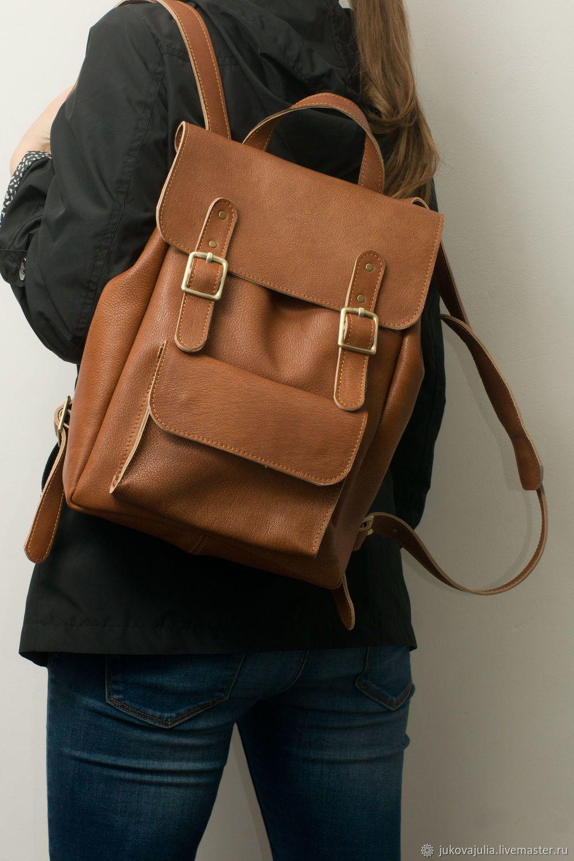9c4ce6f1b827 Купить Рюкзак рыжий коричневый винтажный из натуральной кожи в интернет  магазине на Ярмарке Мастеров