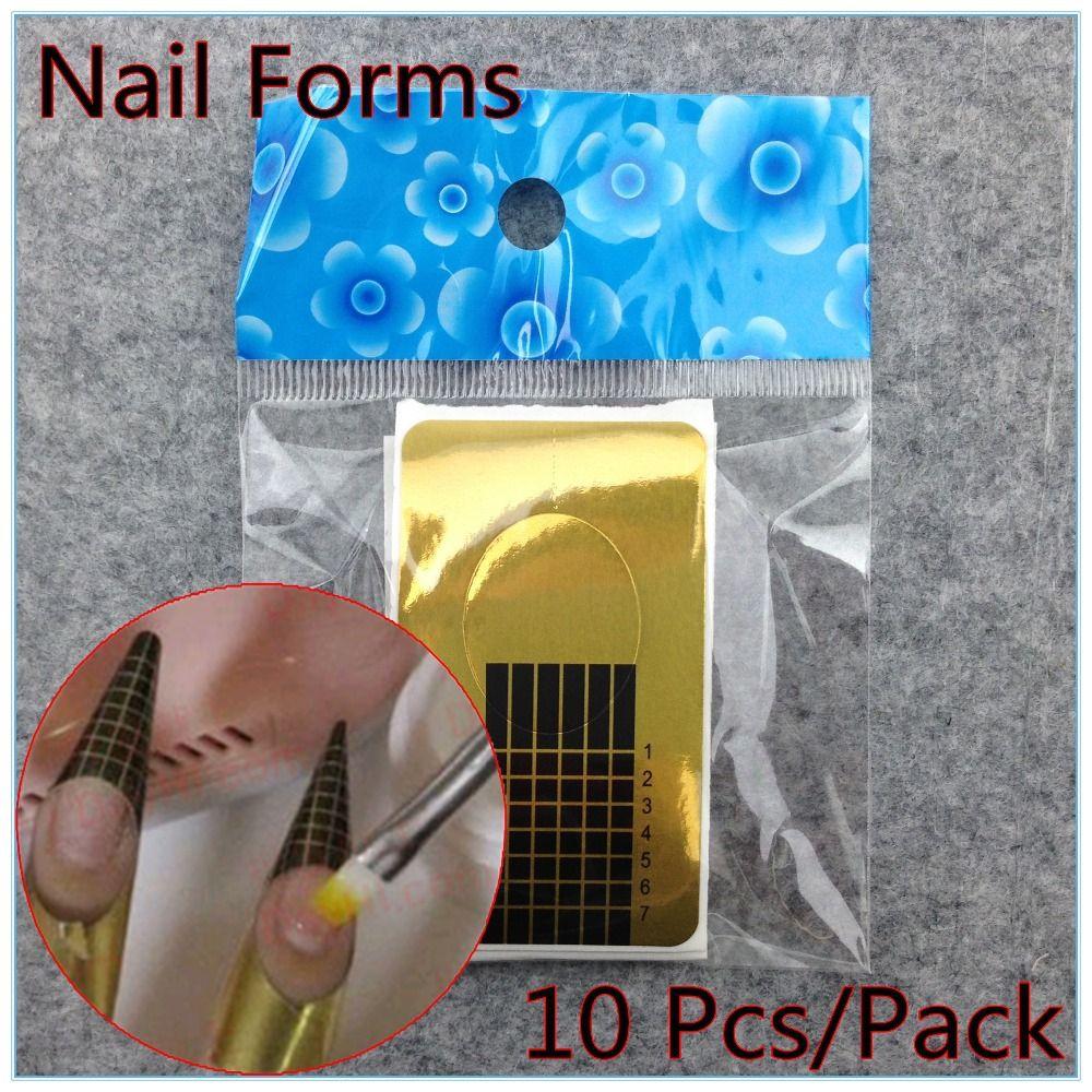 10 x Professionelle Nagel Formen Acryl Nägel Gel Nägel Erweiterung ...