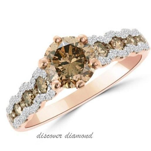 1.40Ct Round dif Diamond Solid14kRose Gold Solitaire CertifiedEngagement ring S #Discoverdiamond #Solitaire