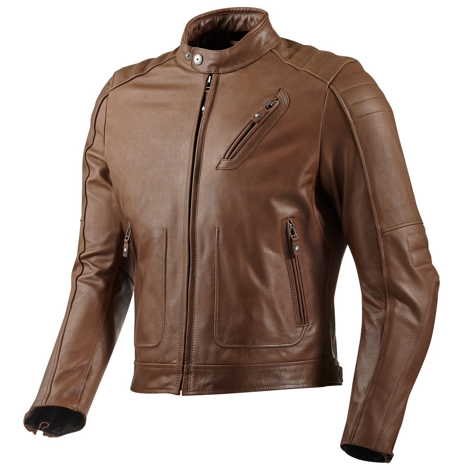 Redhook Classic Cafe Style Leather Jacket - FREE Delivery - Earn Crew