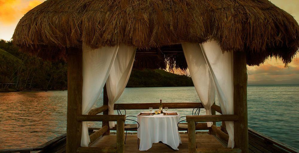 Romantic dinner - Lalati Resort, Fiji