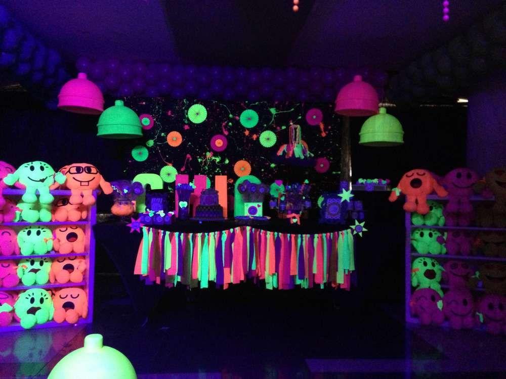 Glow In The Dark Party Birthday Party Ideas Photo 10 Of 11 Glow Party Neon Party Glow Birthday