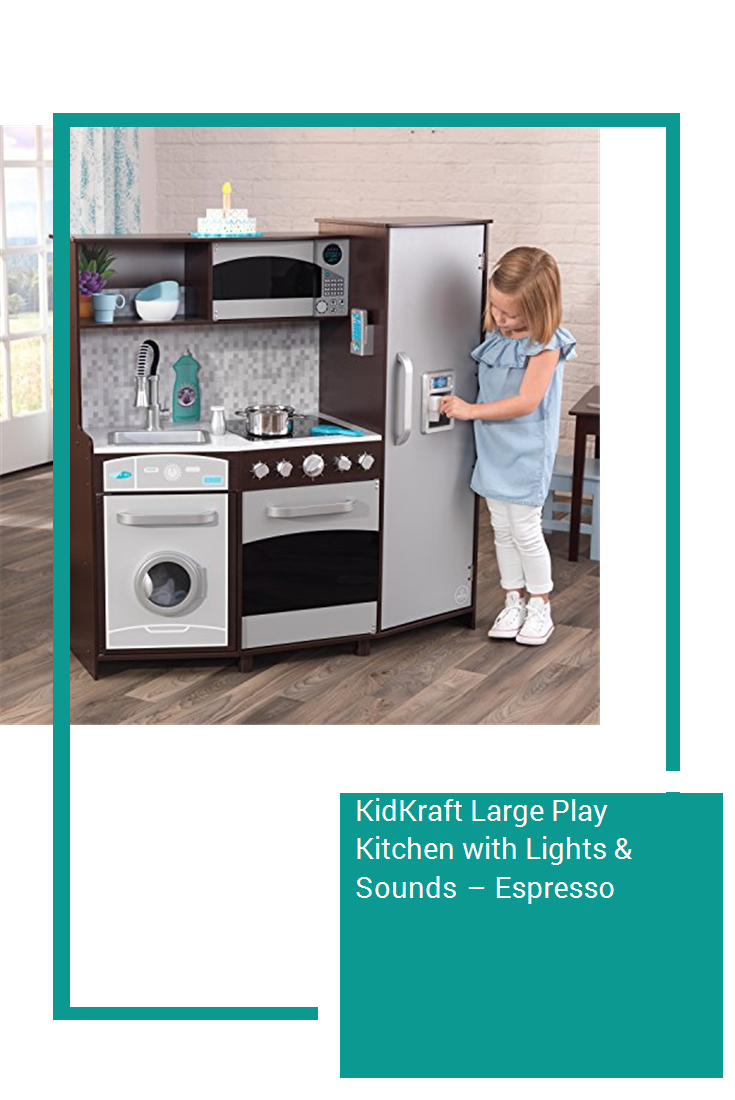 KidKraft Large Play Kitchen with Lights & Sounds