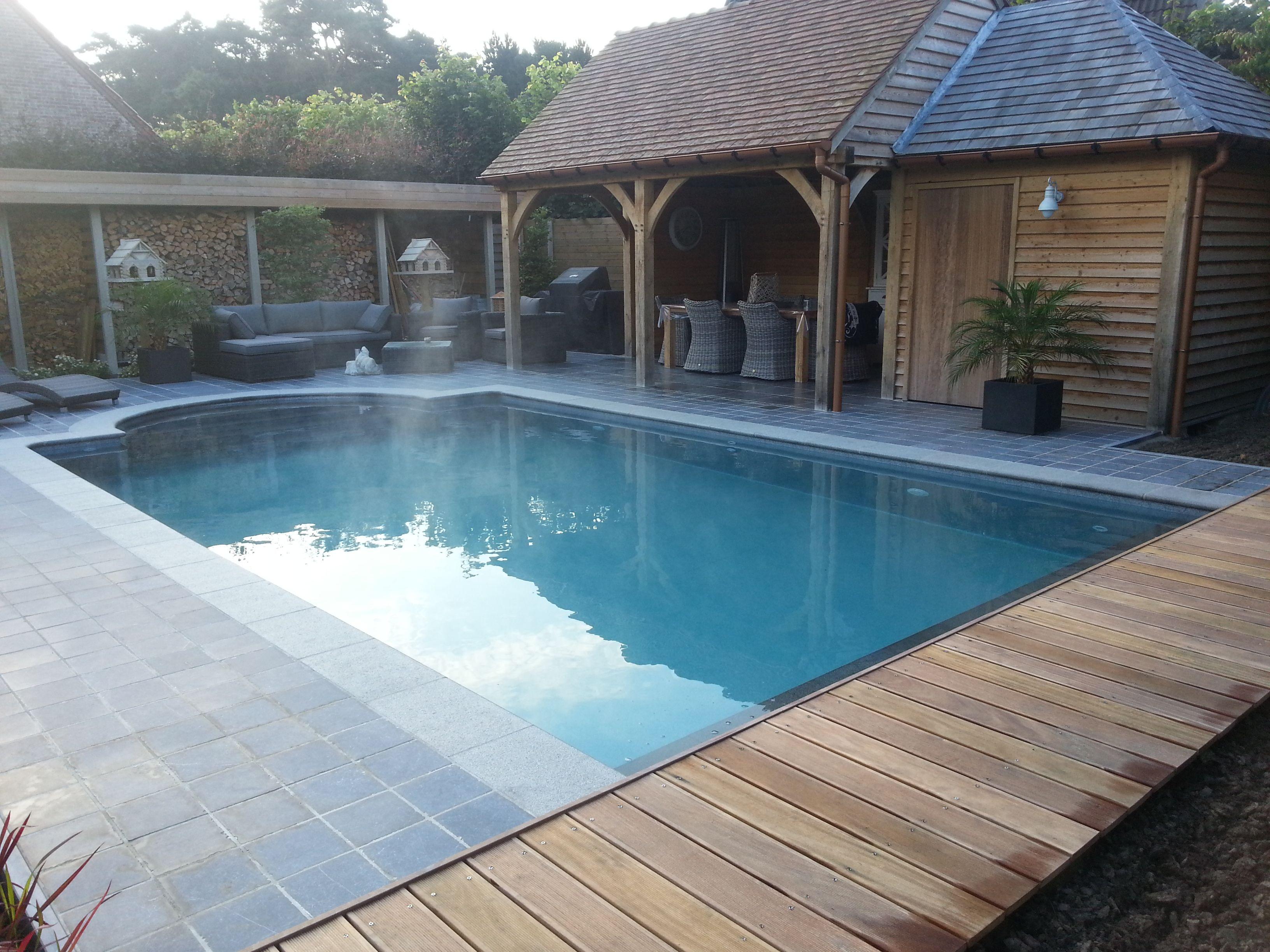 Zwembad met liner elbe black pearl liners voor zwembaden