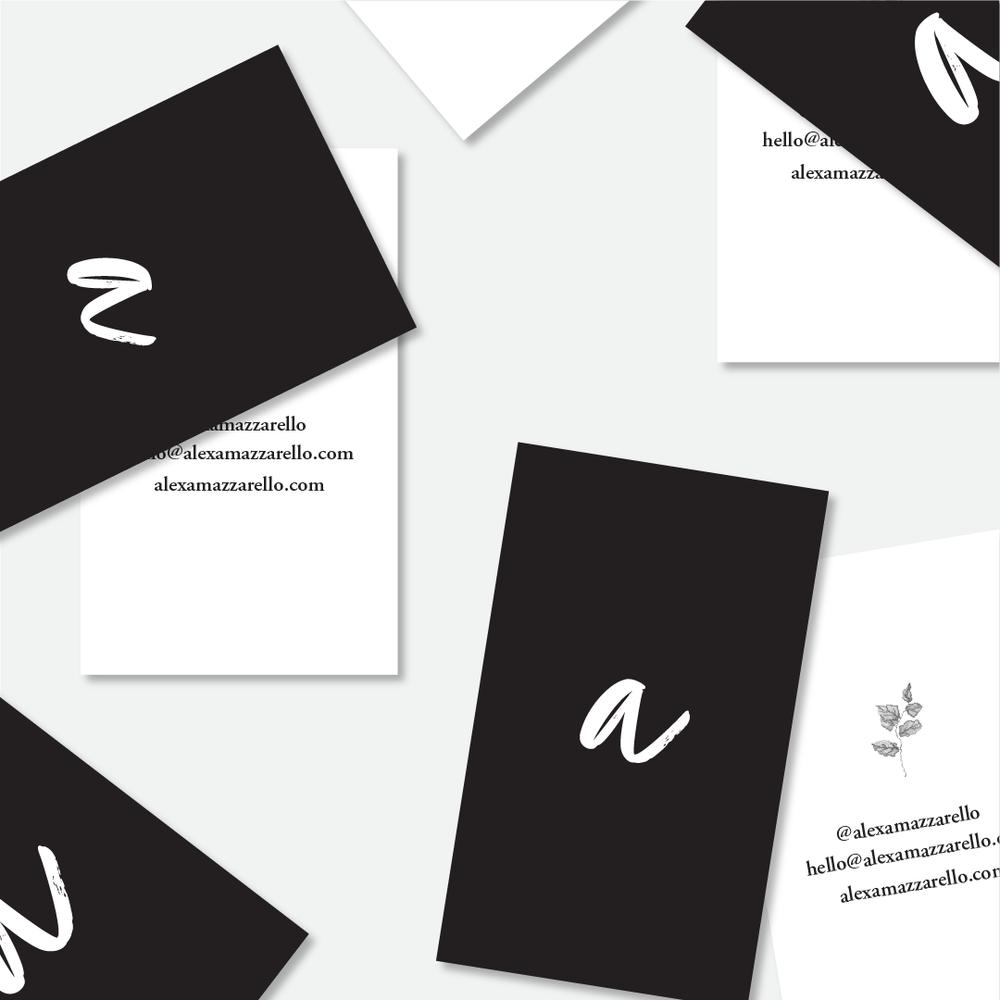 Logo and Brand Identity for Alexa Mazzarello Creative by Salt Design Co.  #brand #logo #businesscards