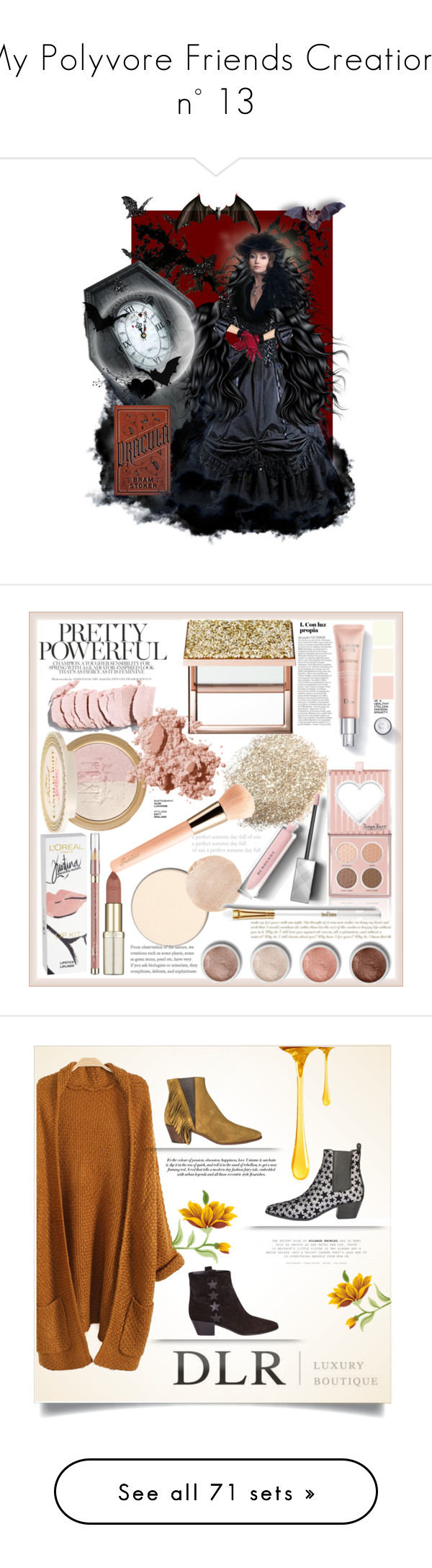 """""""My Polyvore Friends Creations n° 13"""" by tempestaartica ❤ liked on Polyvore featuring art, literarycharacter, beauty, Power of Makeup, L'Oréal Paris, Wander Beauty, Burberry, Guerlain, Sephora Collection and Bobbi Brown Cosmetics"""