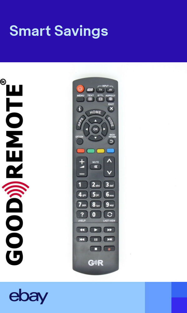 New Replacement Remote Control For Panasonic Tx 40as640b Tx 48as640b Samsung Tv Remote Control Led Tv Remote Control