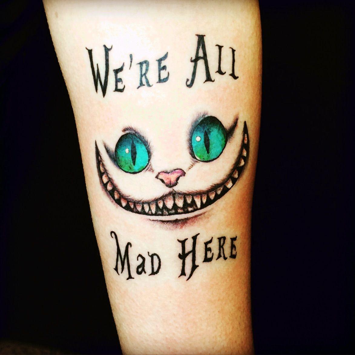 Aliceinwonderland Cheshirecat Tattoos For Women Mad Hatter Tattoo Foot Tattoos For Women