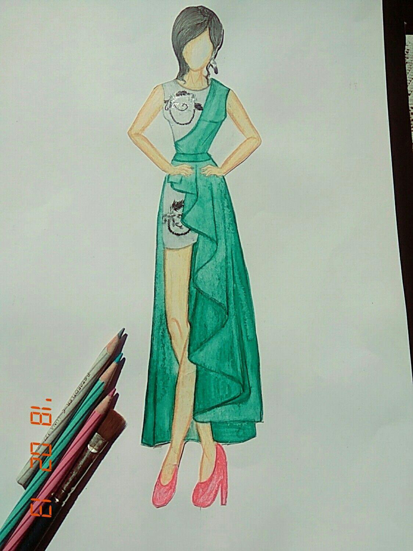 western dress drawing