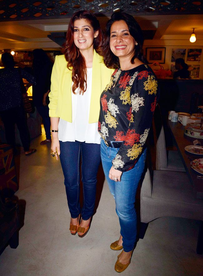 631240c907a9 Twinkle Khanna with Neelam Kothari at her store  The White Window .  Style   Bollywood  Fashion  Beauty