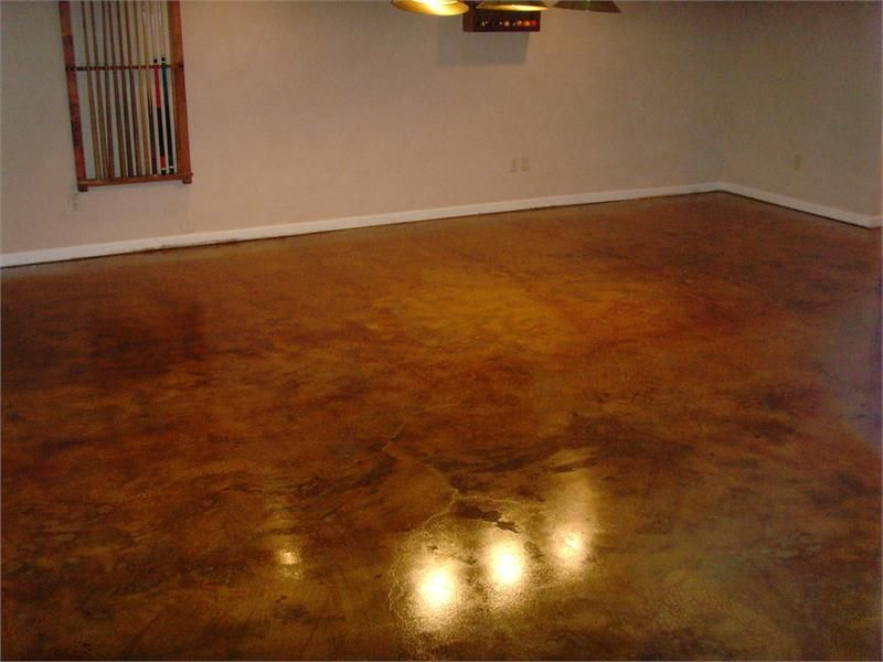 High gloss finish coat for concrete floors coated with for Concrete basement floor