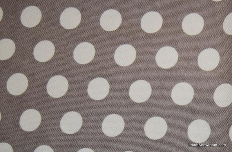 Grey and Whie Polka Dot Heavy Weight Cotton Fabric Charley Harper Pattern MM HDA01