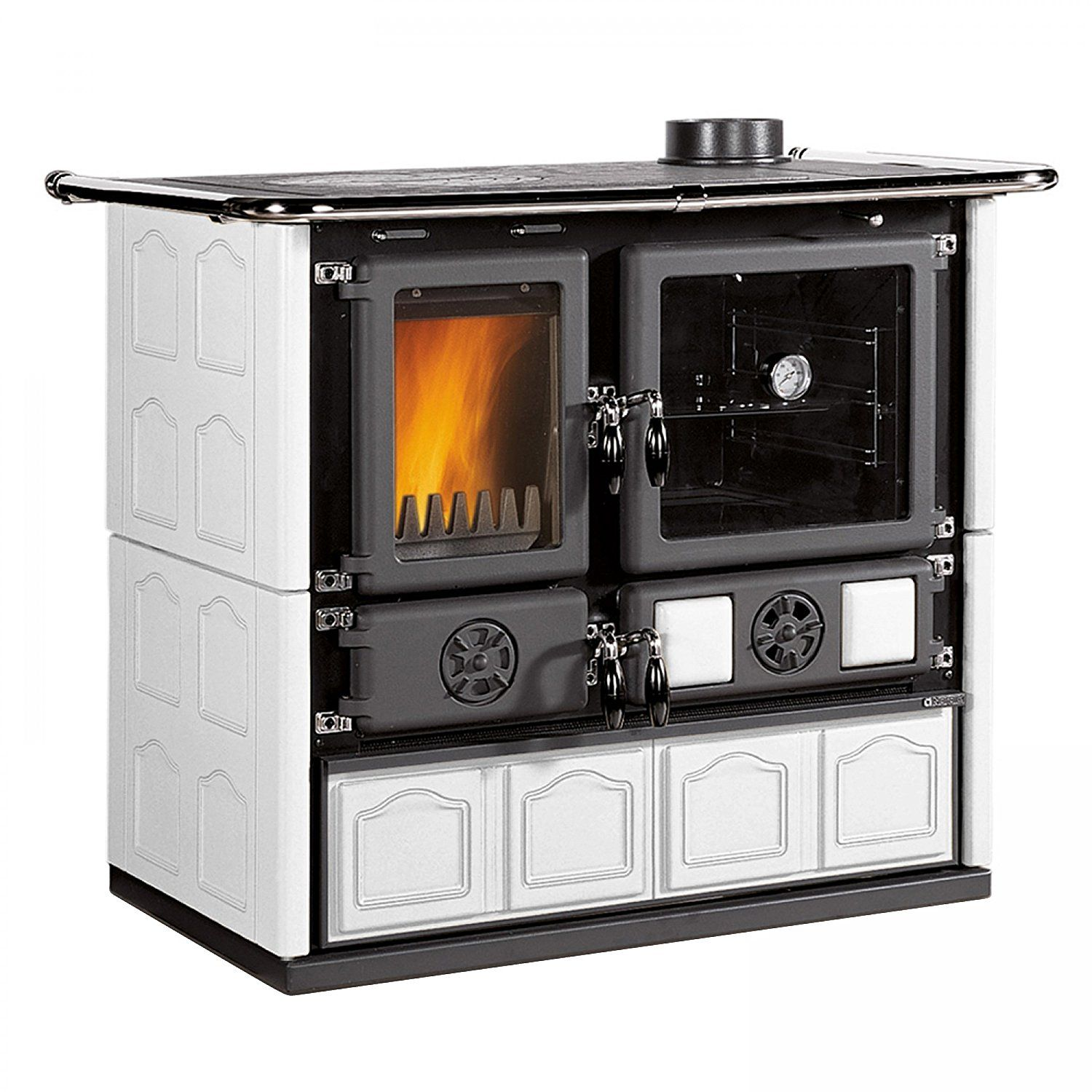 Kamineinsatz La Nordica La Nordica Wood Burning Cook Stove With Wood Burning Baking Oven