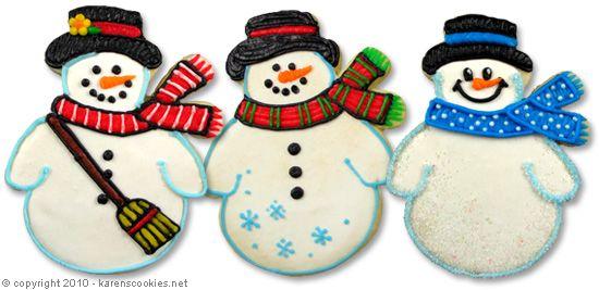Http Www Karenscookies Cookie Projects Snowman Ep 142