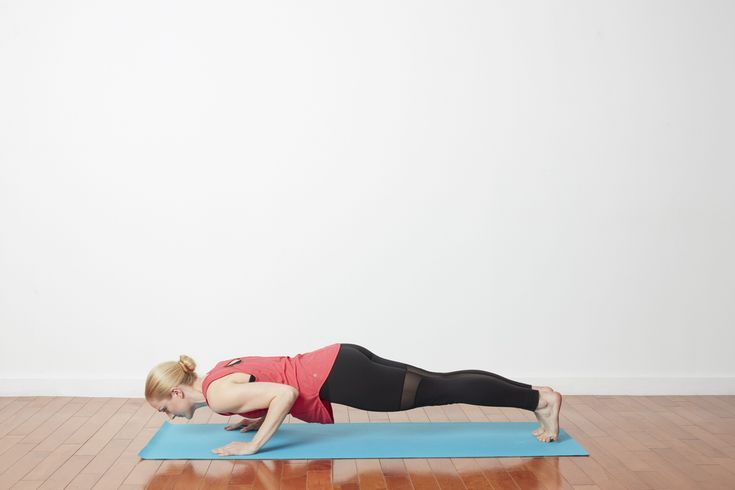 Learn to Do a Sun Salutation With Our Step-by-Step Instructions: Knees, Chest, and Chin or Chaturanga Dandasana
