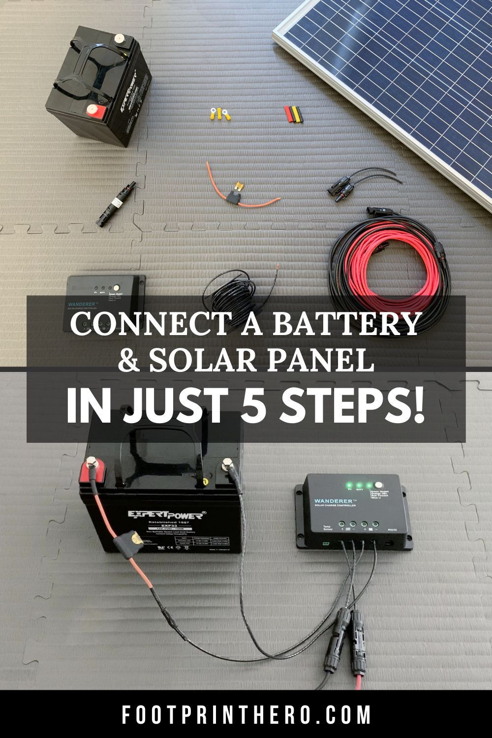 How To Connect A Solar Panel To A Battery 5 Steps W Videos Diy Solar Power System Portable Solar Power Solar Power Batteries