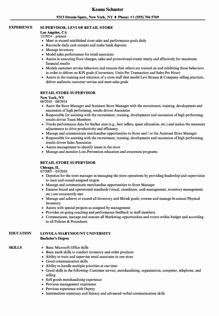 23 Retail Management Resume Examples and Samples in 2020
