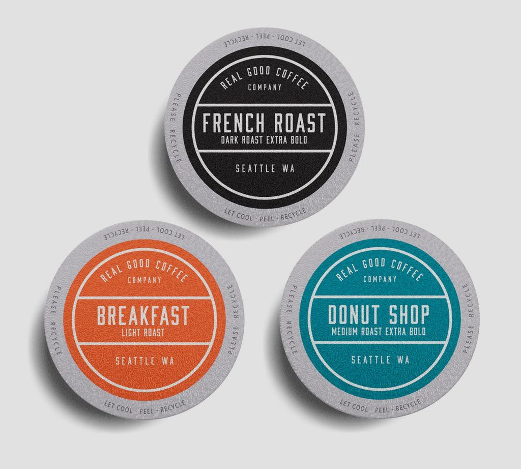 Real Good Coffee Co Keurig K Cups and whole bean coffee is